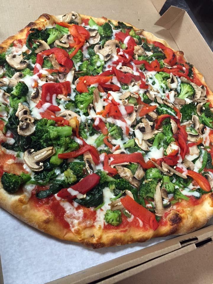 Broccoli, Roasted Pepper, Mushroom Pie